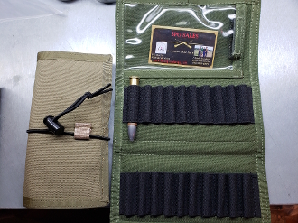 Ammo Wallet for securing your ammo on the hunt or to the range. Has a window for your range card or permits. Extremely handy item.