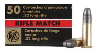 RWS Rifle Match Professional Line 22 rimfire 50ct. box